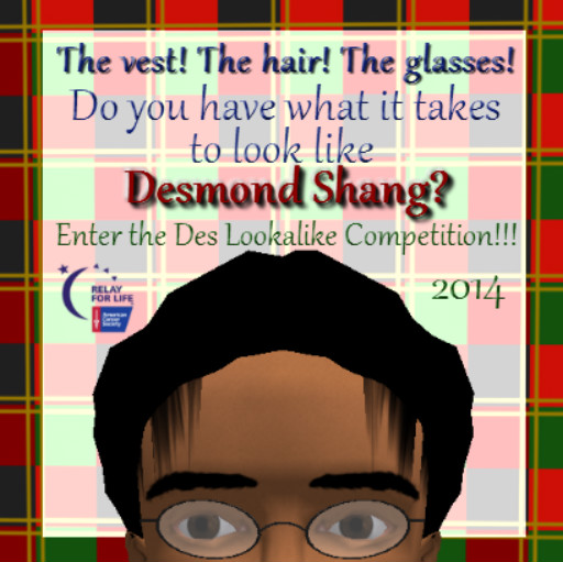 Des Look-alike Competition Poster, 2014. ~Aevalle Galicia