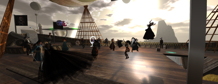 Swashbucklers' Ball, 2014 over Port Caledon. ~Aevalle Galicia