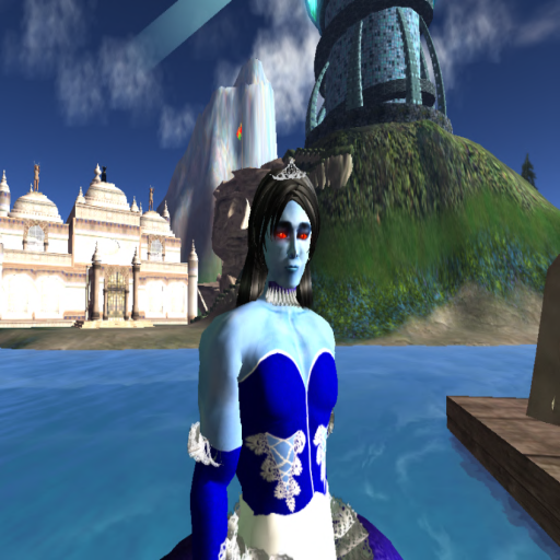 One of the more humorous entries for the Miss Caledon contest in 2010 was Steelcobra Calimari, Emperor of Steeltopia. This was his entry photo, taken with the Thorn Island of Caledon Sound in the background. ~Aevalle Galicia