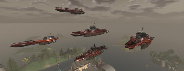Crimson Pirates take to the air for patrol, 2013. ~Aevalle Galicia