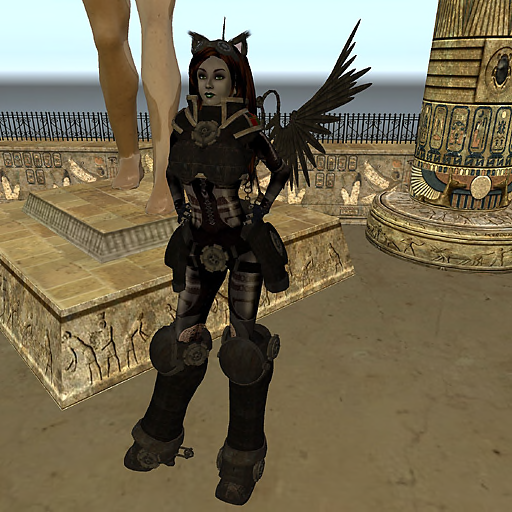 Ceidru Gothly models the latest in steamy catgirl armor in 2009. ~Wrath Constantine