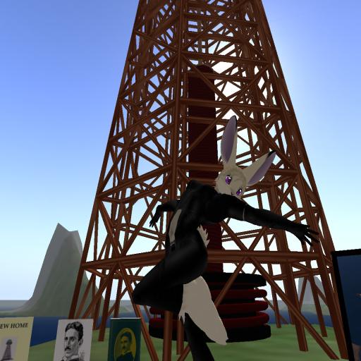 Creator Avariel Falcon at Tesla Tower 2 in Steam SkyCity, 2008 ~Wrath Constantine