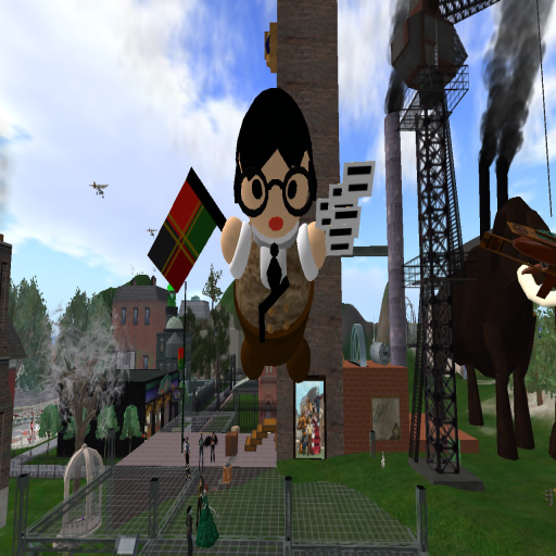 Iason unveils the balloon Des before the Mardi Gras parade of 2009. It has since become a trademark of Caledon parades. ~Wrath Constantine