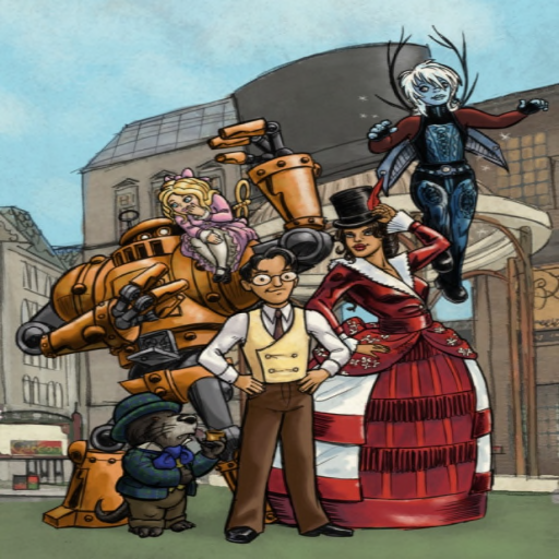Des & crew, Image from the cover of the Strand Magazine featuring Caledonians Iason, 1wuz, Cornelia, Desmond, Eladrienne, and Xero. Submitted by Wrath Constantine