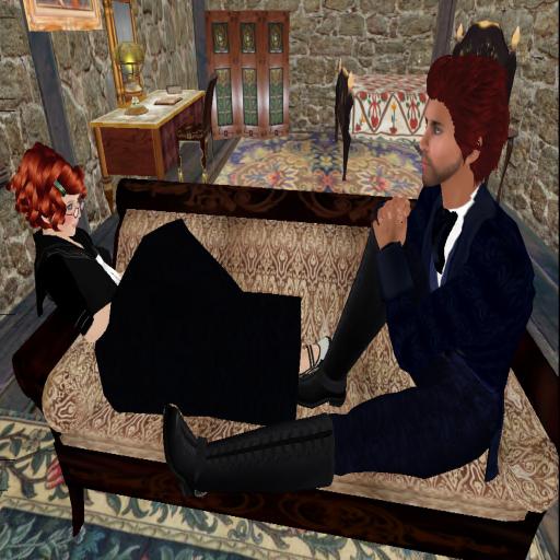 Lucien and Tehanu at the cottage at Serenity, On Sea, 2009. ~Tehanu Marenwolf