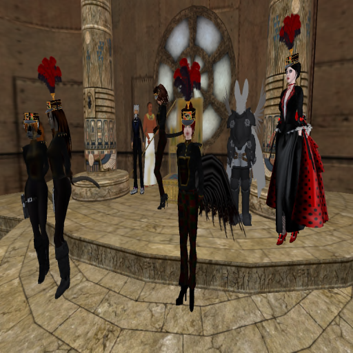 The Caledon Catgirl Brigade was unveiled (along with the Robokitteh) on Caledon's 3rd Anniversary, creating a tradition of the CCB event ending the evening events. Photo taken by the late Duchess of Glengarry, Jillian Vayandar. Supplied by Wrath Constantine