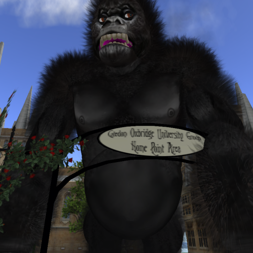 Not a pet, per se....King Kong (Damian Delacroix) invades Oxbridge! Photo taken by the late Nix Sands.